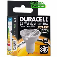 1x Duracell GU10 5.5 Watt (=50 Watt) LED bulb Spot light 345 Lumens (Warm White)