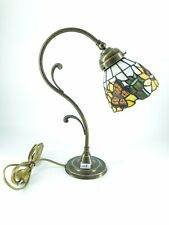 Table Lamp Brass with Glass Lampshade Cup Tiffany Furniture Sunflowers