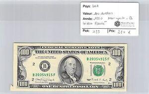 BILLET USA - 100 DOLLARS 1990 - BILLET FAUTÉ - NEW YORK B