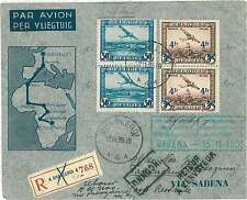 Belgium Cover Aviation Postal Stamps