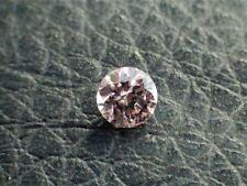 0.17 CT Round Fancy Brownish Pink Loose Diamond! GIA