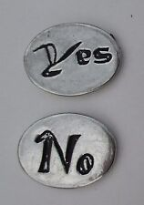 cc Yes No decision maker spirit HANDCRAFTED PEWTER POCKET TOKEN CHARM basic coin