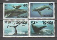 MAR14 - MARINE LIFE FISH TONGA 1996 WHALES WWF MNH