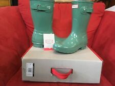Hunter Original Adjustable Back Gloss Succulent Green Rain Boot Shoe 8 New
