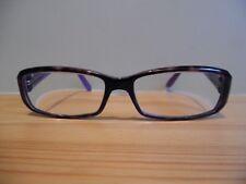 GUCCI viola, argento e Stampa Animale Marrone Ovale Occhio Occhiali Da Vista GG 3095 12 V 125
