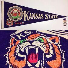 1960's Kansas State Wildcats KSU University Pennant 12x29