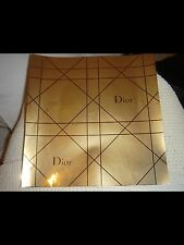 DIOR PERFUME PURSE WALLET ETC GOLD GIFT PRESENT WRAPPING MAKEUP PAPER DESIGNER