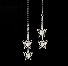 *Ckstella* Fluttering Butterfly Pp Threader Sterling Silver Ear Thread Earrings
