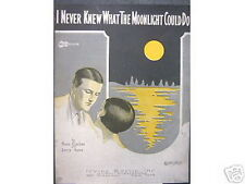 1926 Sheet Music I Never Knew What Moonlight Could Do Uke/May Singhi Breen