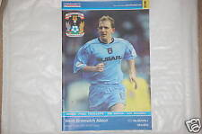 Coventry v West Bromwich Albion Programme 1st Apr 2002