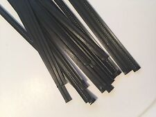 "(1000 pcs) Black Plastic Twist Ties 5/32"" x 6"" bag tie cello"
