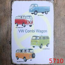 Metal Tin Sign vw combi wagon Bar Pub Vintage Retro Poster Cafe ART