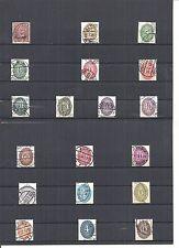 Deutsches Reich 1927, Dienstmarken, Einzelmarken aus MiNrn: 112 - 131 o, Auswahl