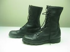 VINTAGE 1986 BLACK DISTRESSED RO-SEARCH LACE UP MILITARY MOTORCYCLE BOOTS 6 R