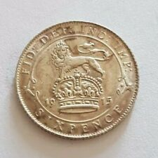 More details for 1915 george v .925 silver six pence sixpence 6d coin