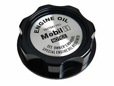 BLACK MOBIL 1 M7-STYLE JDM CNC BILLET ENGINE OIL FILLER CAP FOR HONDA ACURA