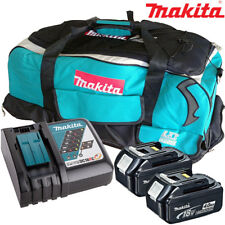 Makita 2 x BL1840 Battery + DC18RC Charger + LXT600 Bag For DRT50ZJ Router