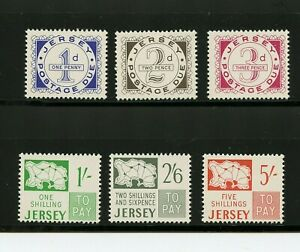 Great Britain - Jersey #J1-J6 (GR287) Complete 1969 Postage dues, M, LH, VF