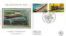 2001-Fdc.Enveloppe Soie 1°jour-Légende du rail-Paris-stamp-Yv.3413/14