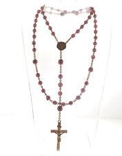Vintage Purple Crystal Rosary Crucifix