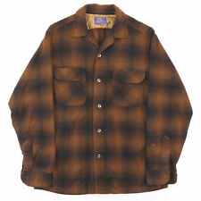 Vintage PENDLETON  Brown Classic Long Sleeve Casual Shirt Mens M