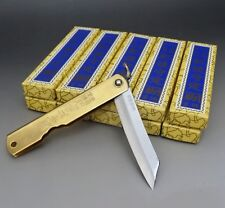 HIGONOKAMI x 10 Blue Paper Steel Japanese Folding Pocket Knife L NAGAOKOMA