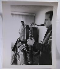 Original 1960's Candid Photo Beach Boys Brian Wilson & Mike Love in Home Studio