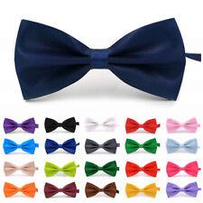 23 Styles Men Satin Bow Tie Neck Clip-on Dickie Fancy Dress Wedding Adjustable