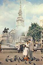 London: Fountain,Trafalger Square, St Martin in the Field - Posted 1960 - Dixon