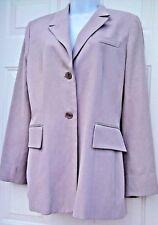 Banana Republic Jacket Beige Lined Long Career Blazer Silk Coat SZ 10