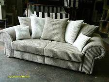 """NEW YORK 3 + 2 SEATER SOFAS"""" MINK """"BRAND NEW BRITISH MADE MANY COLOURS AVAILABLE"""