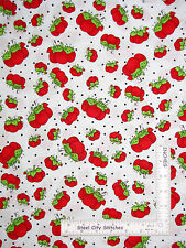 Loralie Sew Fabulous Fabric - Red Pin Cushion Loralie Harris 984-B White - Yard