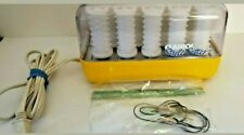 Vintage Clairol Style Setter Hot Rollers Curlers C-14 Wax Core Yellow With Clips