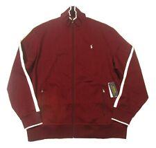 Polo Ralph Lauren Men's Red Burgundy Cotton Full Zip Track Jacket