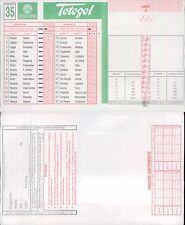 TOTOGOL R@R@  SCHEDA  N.35  A 30 PARTITE DEL 14 05 1995