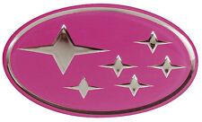 SUBARU IMPREZA STI PINK 'STARS' BADGE GRILLE EMBLEM FOR 92-00 GC8 WRX STI P1 ETC