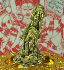Gold tong Pra lai LEKLAI deity Statue SUWAN RACHA Natural Thai AMULET LP SOMPORN