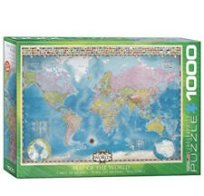 1000 Pieces Jigsaw Puzzle- Map Of The World - Flags - Geography - Eurographics