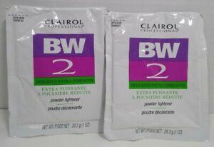 Lot of 2 Packs Clairol BW 2 Powder Dedusted Hair Lightener 1 oz Packets