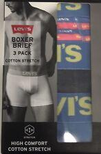 Levi's 3 Pack Cotton Stretch Boxer Briefs Underwear