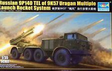 Trumpeter 1:35 9P140 tel 9K57 URAGAN Multiple Launch Rocket System Model Kit