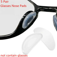 5 Pairs Adhesive Nose Pads Anti-slip Silicone Eyeglass Pads for Glasses