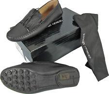 NEW $850 Giorgio Armani Mens Shoes!  e 45 Approx US 12   Black Leather Moccasins