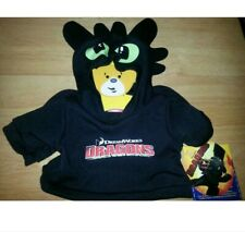 Build a Bear Toothless How to Train your Dragon 2 Movie Teddy Size Hoodie Shirt
