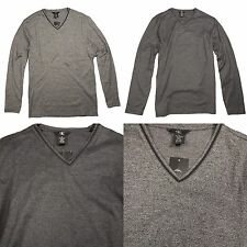 Nwt Calvin Klein Mens V Neck Long Sleeve Shirt T Shirt