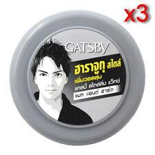 3x 75g Gatsby Gray Volume Up Harajuku Mat Hard Hair Styling Fashion Wax For Men