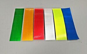 200mm Strip Reflective Tape Hex Fluro Hi Vis Safety - 3M Adhesive 50mm Width