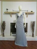 LULUS Grey Sleeveless Ruffle Maxi Dress-Size M