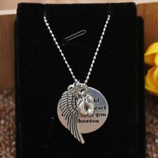 Mother Hold You in My Heart Baby Memorial Angel Foot Necklace Heaven Pendant New