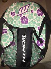 Worth Keilani Baseball/Softball Backpack Bat Bag - Black/ White/ Green/Purple